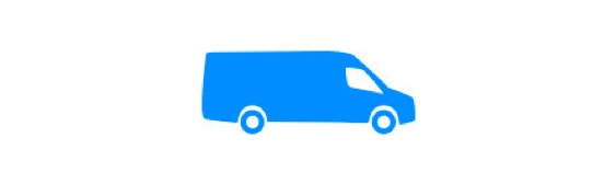 Blue van icon.