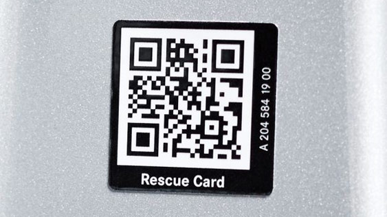 View of the Rescue Assist QR code.