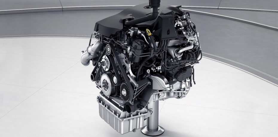 View of 3.0-liter V6 turbo Diesel engine.