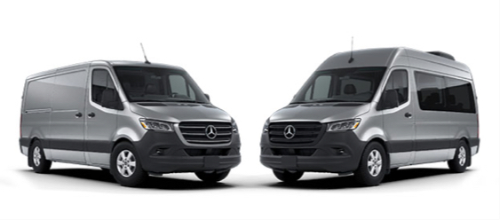 Two Sprinter models on a white background.