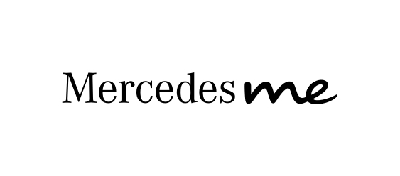 View of Mercedes me logo.